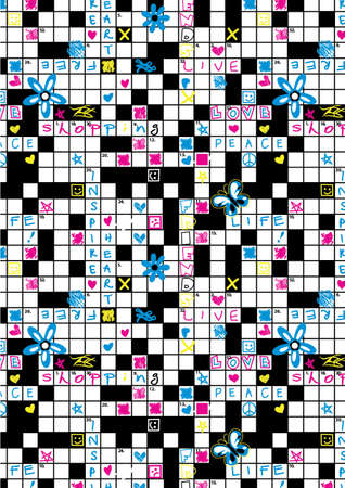 repeat: Crossword repeat pattern