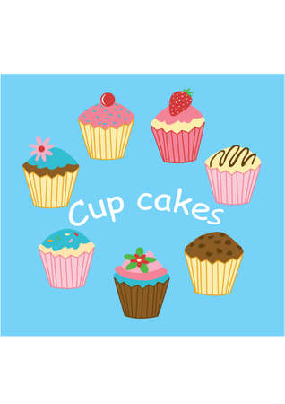 cup cakes: Cup Cakes Vectores