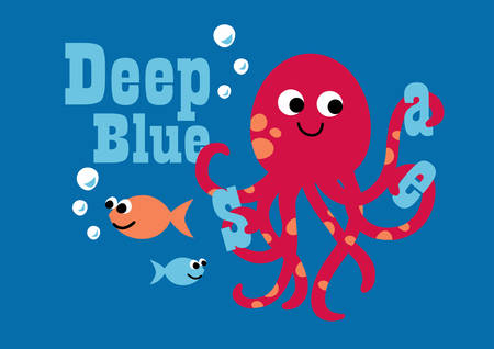 deep blue: Deep blue Illustration
