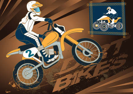 dirt bike: Dirt bike Illustration