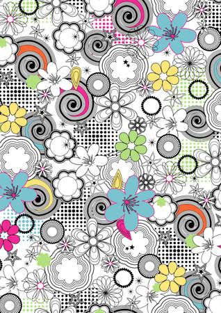 Floral lines pattern