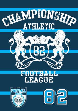 the varsity: Football league 82  Illustration