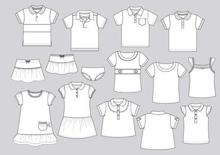 illustrators: garment shapes 1