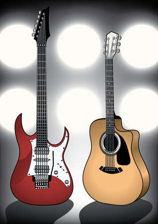 electric guitars: Guitars on stage