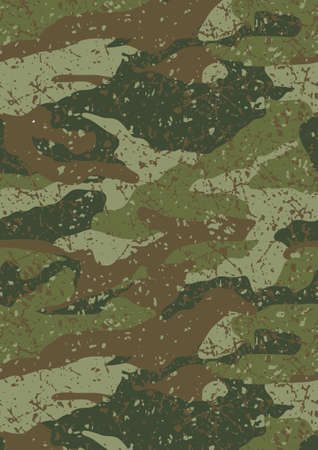 Jungle and mud camouflage pattern
