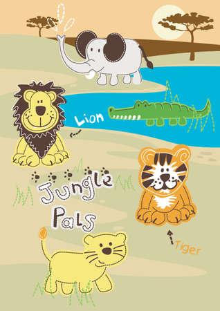 animales del desierto: Jungle Pals