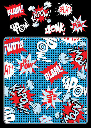 kapow: Kapow splat blam  Illustration