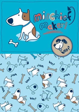 mischief: Mischief maker woof Illustration