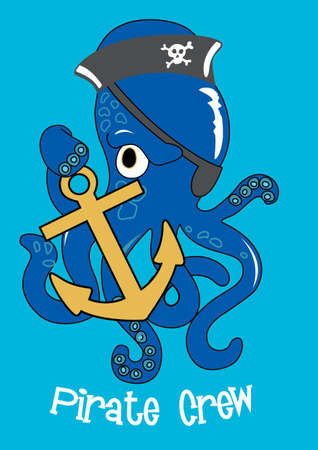Pirate crew Octopus Vector