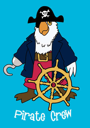 pirate crew: Pirate crew Parrot Illustration