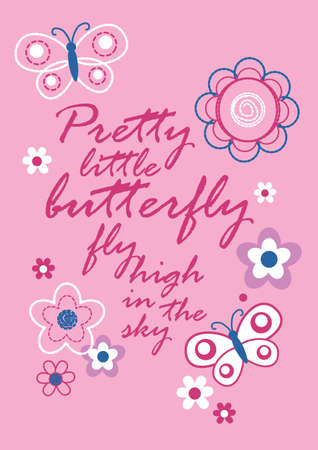 poems: Pretty little butterfly Illustration