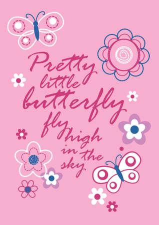 poems: Pretty little butterfly Illustration