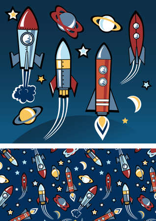 launching: Rockets in space