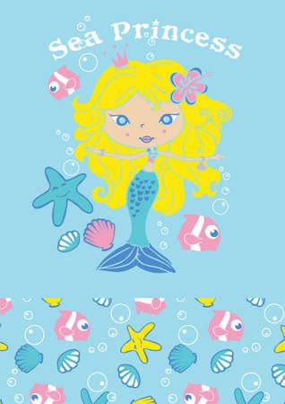 Sea princess Stock Vector - 24955043