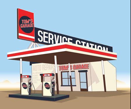 Service gas station