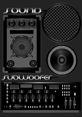 Sound subwoofer Illustration