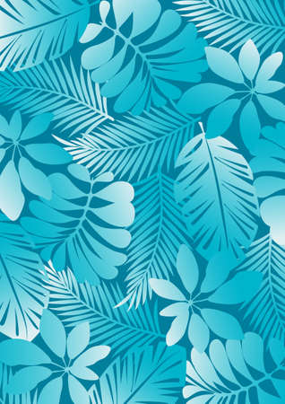 fern: Tropical pattern aqua