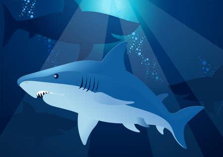 man eater: Shark swimming