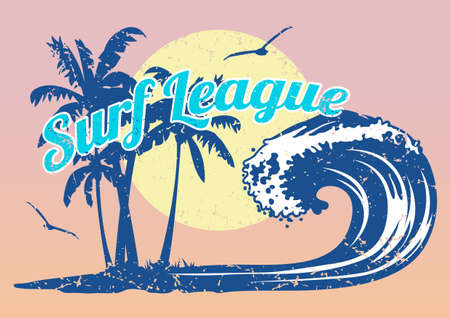 Surf League Vector