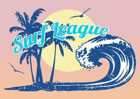 retro sunrise: Surf League