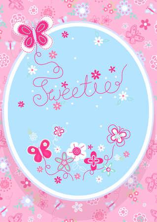 aqua flowers: Sweetie butterfly
