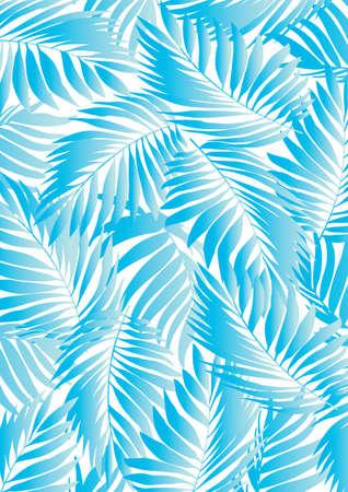 helechos: Hoja aqua Tropical Vectores