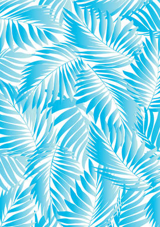palm leaf: Tropical aqua leaf