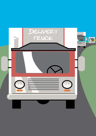 convoy: Consegna camion Vettoriali