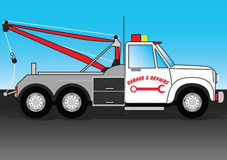 tow truck: Truck