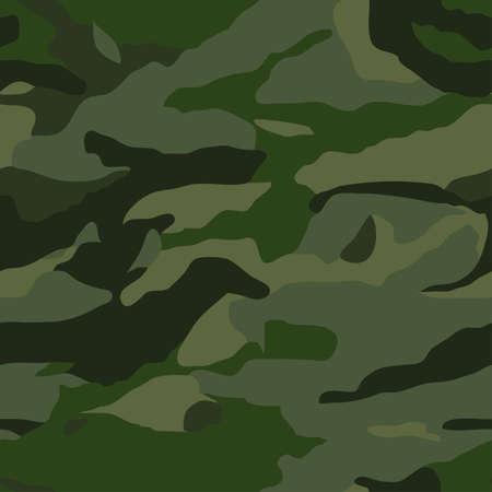 Khaki camouflage seamless pattern Vector