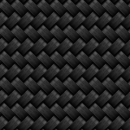 grafito: Un diseño sin fisuras patrón de fibra de carbono. Vectores