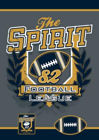 the varsity: The spirit football sports league. Illustration