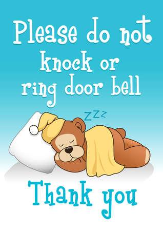 knock: Do not knock sleeping bear 1.
