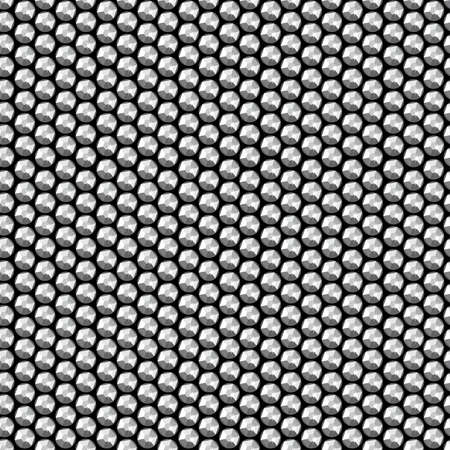 Silver crystal sequins seamless pattern . Illustration