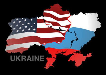 geopolitics: Ukraine map USA V RUSSIA .