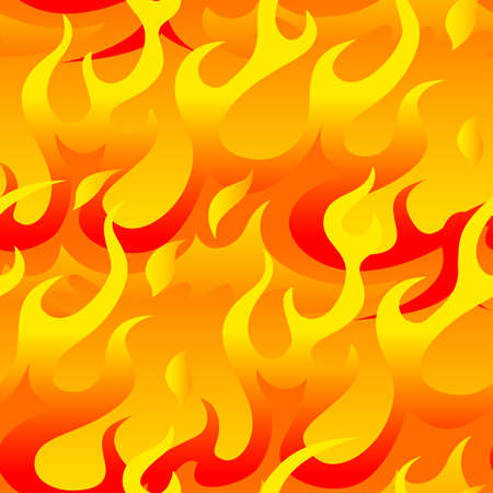 Hot flames seamless pattern .