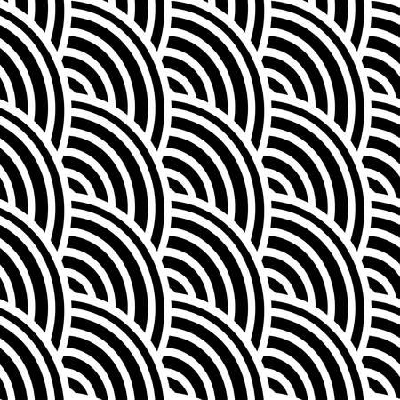 黒と白は、シームレスなパターンの曲線。 写真素材 - 38100553