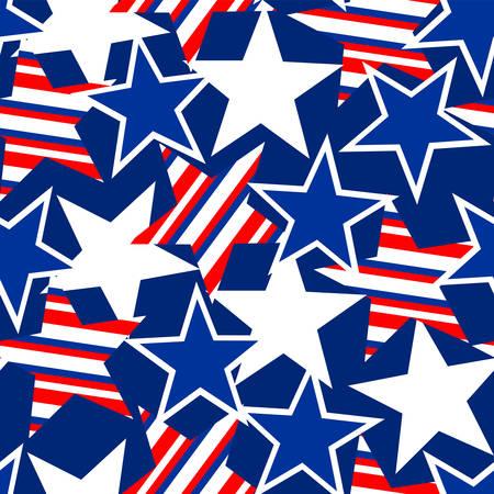 アメリカ星条旗のシームレスなパターン。