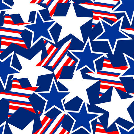 stars and stripes: USA stars and stripes seamless pattern .