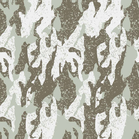 cold war: Snow distressed camouflage seamless pattern . Illustration