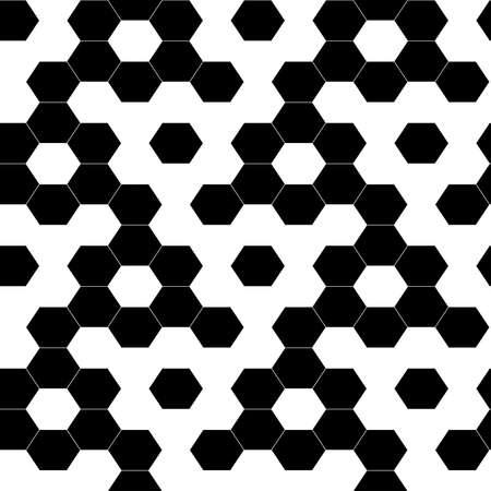 Checkered geometric hexagon background seamless pattern . Иллюстрация
