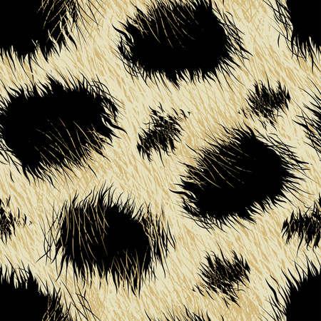 Leopard spots fur in a seamless pattern .