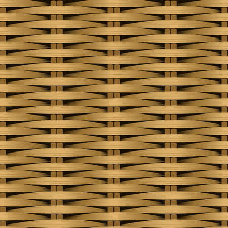 parquetry: Cane flat woven fiber seamless pattern .