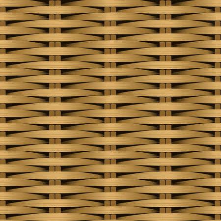 plat: Cane flat woven fiber seamless pattern .