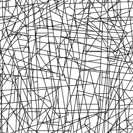chaotic: Abstract chaotic lines in a seamless pattern . Illustration