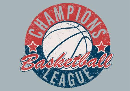baloncesto: Campeones de la liga de baloncesto de impresi�n apenada.