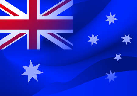 oz: Abstract Australian flag in the wind