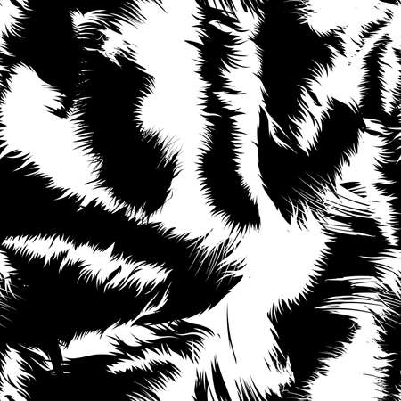 Snow tiger stripes in a seamless pattern . Фото со стока - 39556604