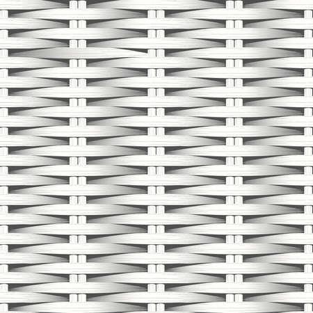 plat: Cane flat woven white fiber seamless pattern .