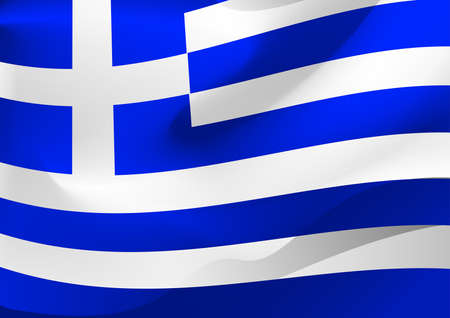 greece flag: Greece flag in the wind